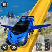 us police flying car vertical ramp racing games