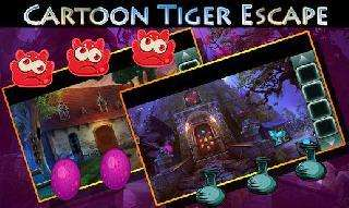 best game 446 cartoon tiger escape from real cave