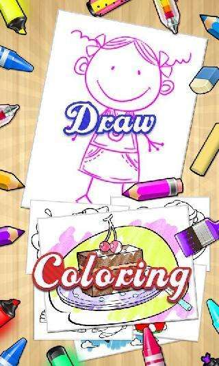 color draw and coloring books