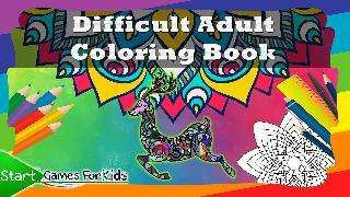 difficult adult coloring book