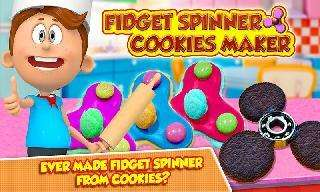 fidget spinner cookie maker - crazy cooking chef