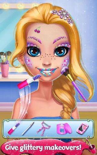 glitter makeup - sparkle salon