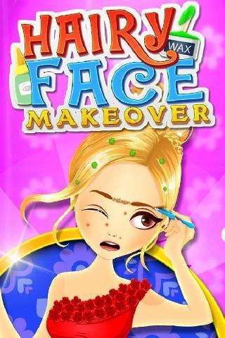 hairy face makeover salon