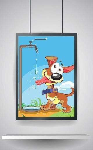 kids puzzle: cartoon dogs