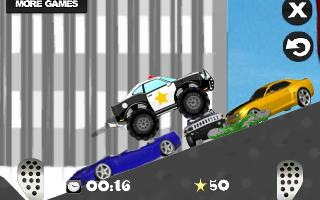mad smash cop - hill racer