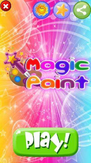 magic paint drawing and coloring