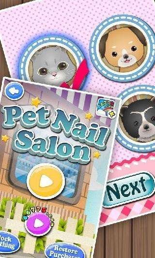 pets nail salon: kids games
