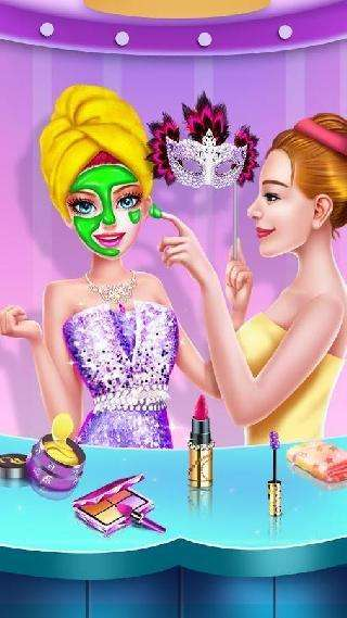 princess makeup - masked prom