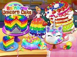 rainbow unicorn cake maker: free cooking games