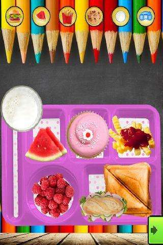 school lunch maker - kids food and snacks games