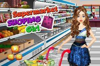 supermarket shopping girl