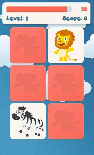 animals memory games for kids