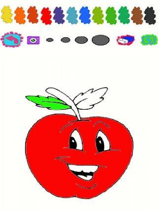 apple family cartoon coloring