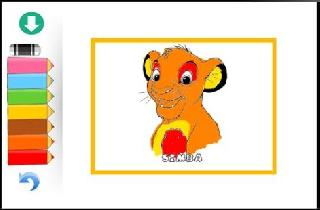 coloring simba lion game