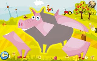 farm - animal puzzle for kids