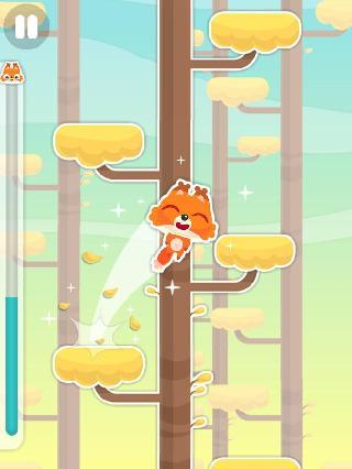 jumping fox: climb that tree