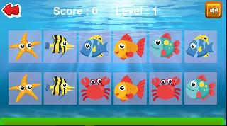 kids sea animals memory game