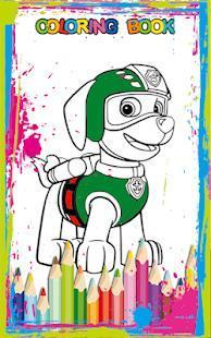 coloring book paw dogs patrol