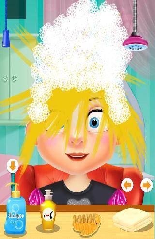 hair salon and barber kids games
