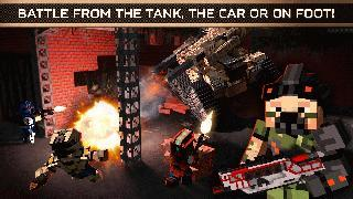 blocky cars - online shooting game, tanks and cars