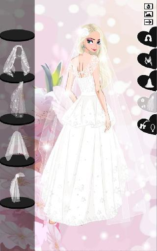 icy wedding  winter bride