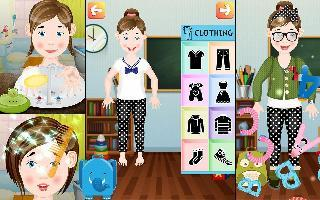 kids dress-up and makeover game