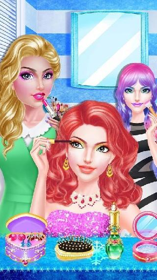 makeup girl winter beauty spa