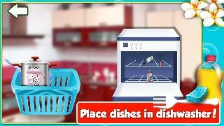 princess dish washing-cleanup