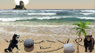 sand draw: sandy beach drawing