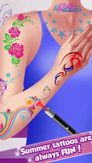 summer tattoo games for girls