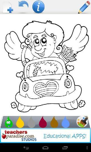 valentines game coloring book