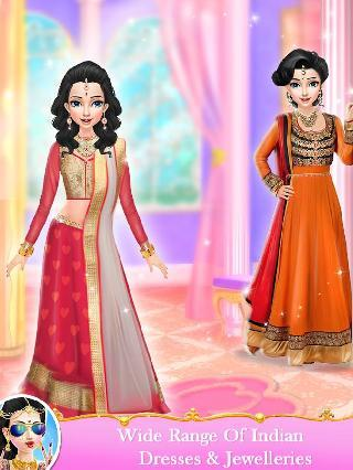 indian wedding bride fashion dressup and makeup