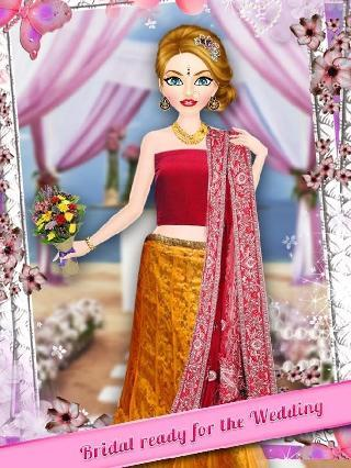 indian wedding girl makeup and dressup