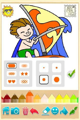 kids coloring game