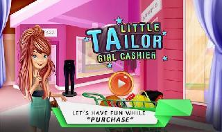 little tailor girl cashier shop cash register