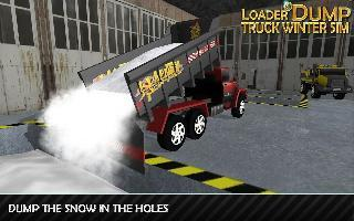 loader and dump truck winter sim