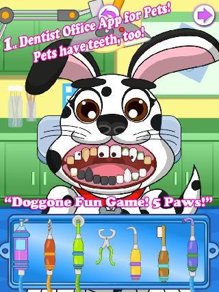 animal pets dentist office - puppy pet kids games