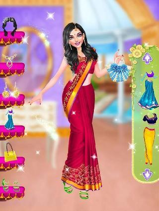 indian wedding and bride game - spa makeup dressup