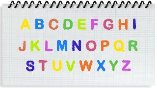 alphabet writing for kids