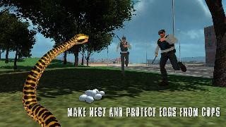 angry anaconda hunting animals