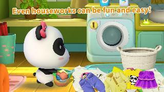 cleaning fun: baby panda