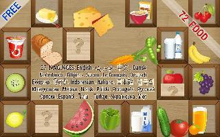 kids game  memory match food