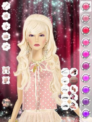 makeup and dressing for barbie