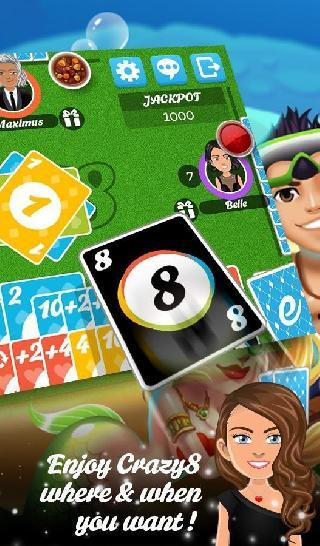 multiplayer crazy8 game