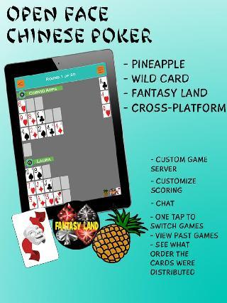 open face chinese poker free