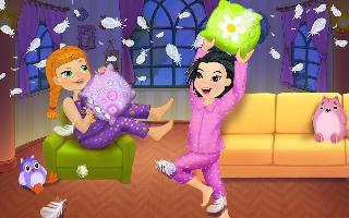 pj party - crazy pillow fight
