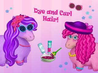 pony sisters in hair salon