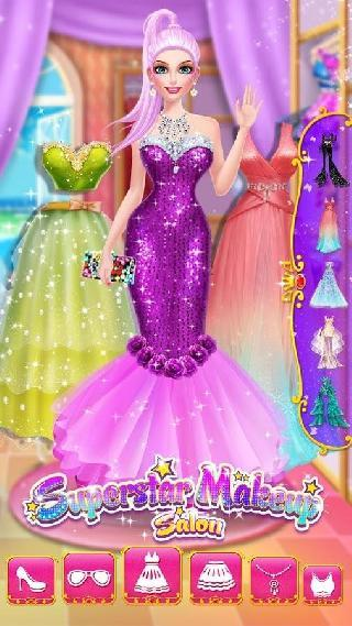 superstar makeup salon - girl dress up