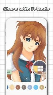 anime and manga color by number - sandbox pixel art