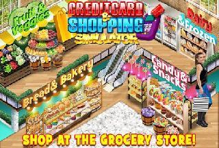 credit card and shopping - money and shopping sim